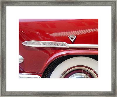 Framed Print featuring the photograph Red Ford Crestline V8 by Ecinja Art Works