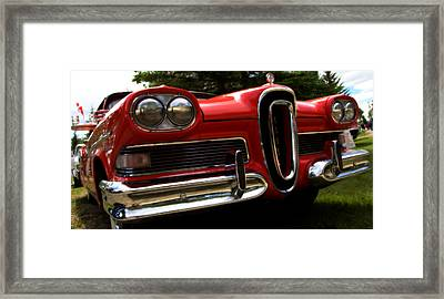 Framed Print featuring the photograph Red Ford Edsel by Mick Flynn
