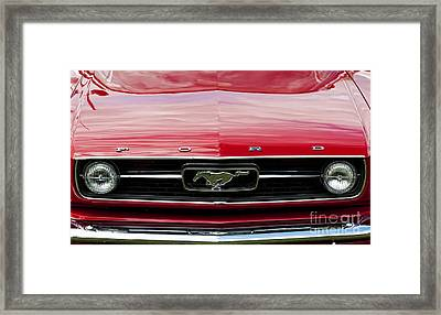 Red Ford Mustang Framed Print by Tim Gainey
