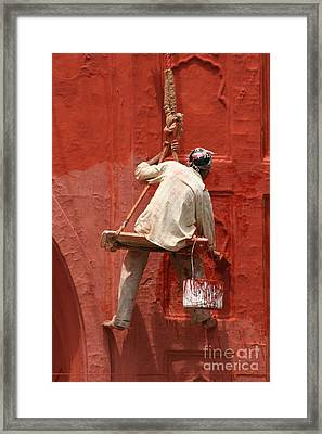 Red Fort Painter Framed Print