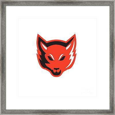 Red Fox Head Front  Framed Print by Aloysius Patrimonio