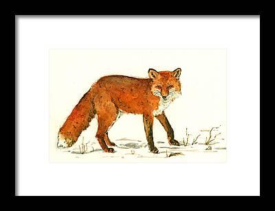 Fox Hunt Framed Prints