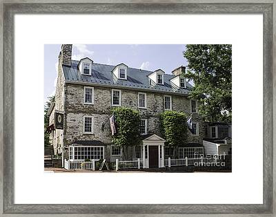 Red Fox Inn Framed Print by Arlene Carmel