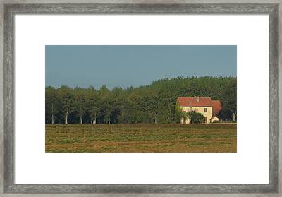 Red French Cottage Framed Print