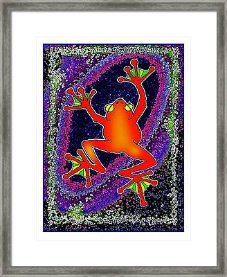 Red  Frog Framed Print by Hartmut Jager