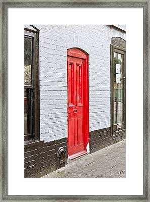 Red Front Door Framed Print