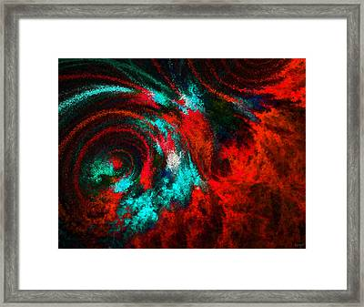 Red Fury Framed Print by Lourry Legarde