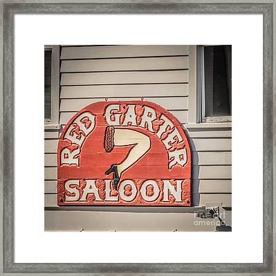 Red Garter Key West - Square - Hdr Style Framed Print
