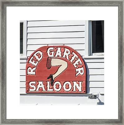 Red Garter Key West - Square Framed Print