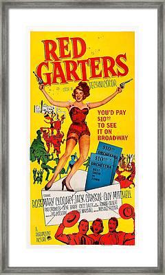 Red Garters, Us Poster Art, Rosemary Framed Print