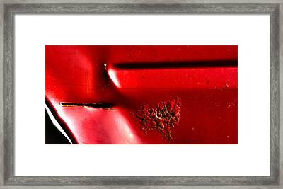 Red Gash Framed Print