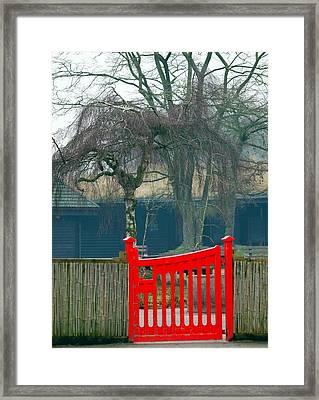 Red Gate Framed Print