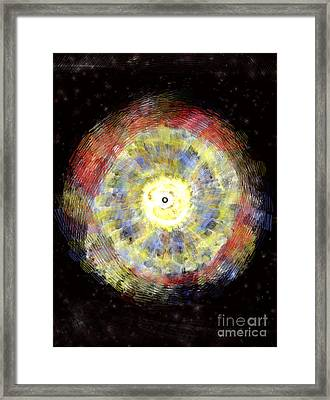 Red Giant Blows A Bubble Framed Print