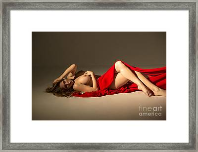 Red Glamour Framed Print by Julia Hiebaum