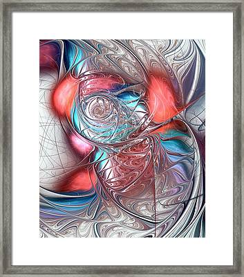 Red Glass Fish Framed Print by Anastasiya Malakhova