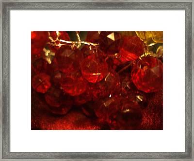 Red Glass Grapes Framed Print