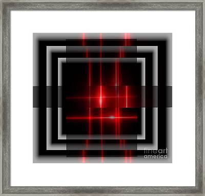 Red Glory Reflections  Framed Print