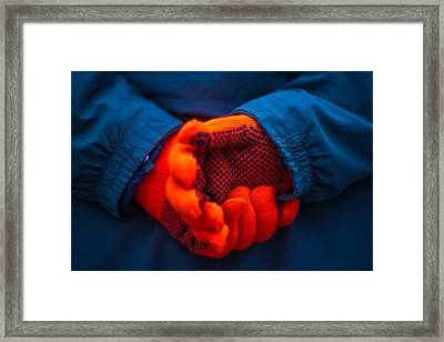 Red Gloves - Featured 3 Framed Print by Alexander Senin