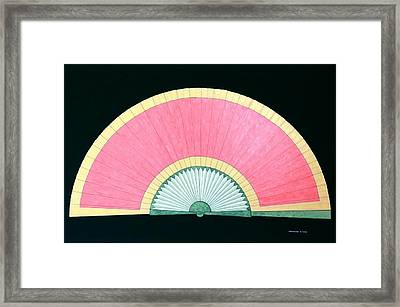 Red Gold Fan Framed Print by Thomas Gronowski