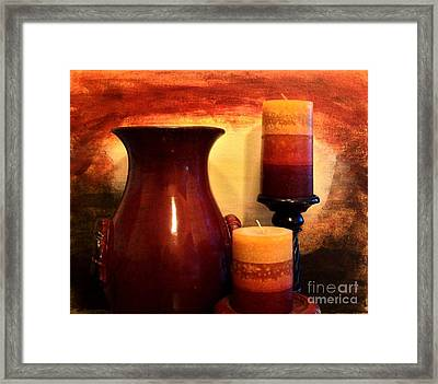 Red Gold Framed Print by Marsha Heiken