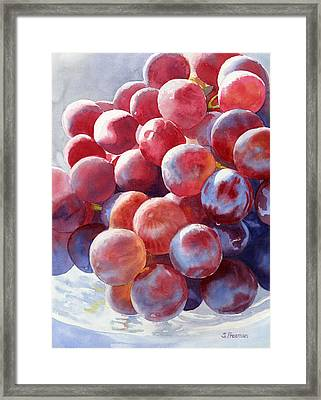 Red Grape Essence Framed Print by Sharon Freeman