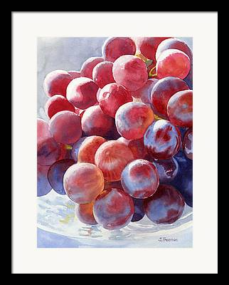 Grapes Art Framed Prints