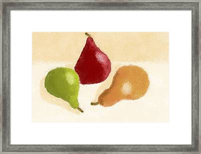 Red Green And Bosc Framed Print by Heidi Smith