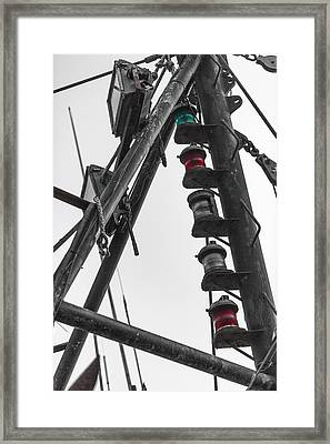 Red Green White Selective Color Framed Print