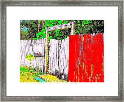 Red Grey Gate 0552 14 Framed Print