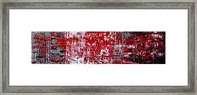Red Grey White And Black Framed Print