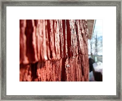 Red Gristmill Framed Print by Jenna Mengersen