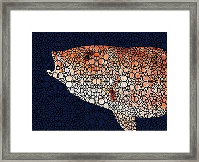 Red Grouper Fish - Florida Art By Sharon Cummings Framed Print by Sharon Cummings