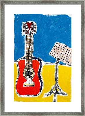 Red Guitar 1 Framed Print