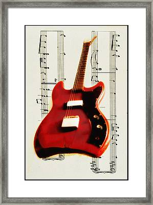 Red Guitar Framed Print by Bill Cannon