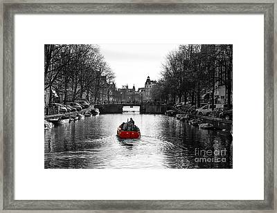 Red Framed Print by Gunnar Orn Arnason