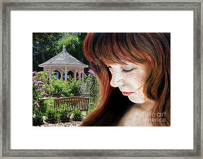 Red Hair And Freckled Beauty II Altered Version Framed Print by Jim Fitzpatrick