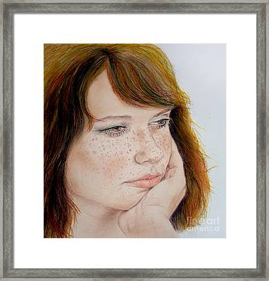 Red Hair And Freckled IIi Framed Print by Jim Fitzpatrick