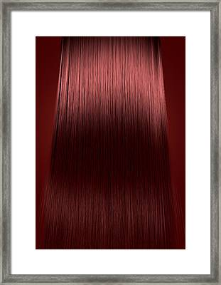 Red Hair Perfect Straight Framed Print by Allan Swart