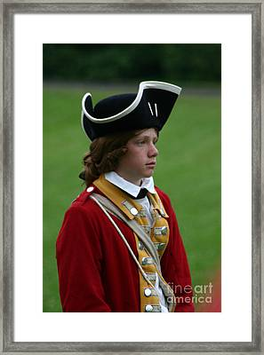Red Haired Lad Framed Print by Victoria  Dauphinee