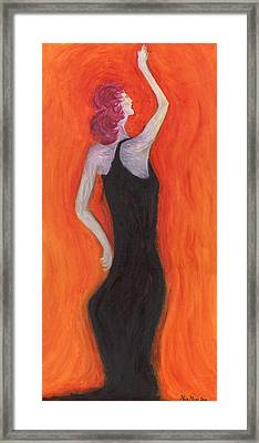Red Haired Lady Framed Print
