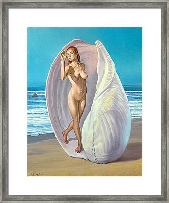 Red-haired Venus Framed Print