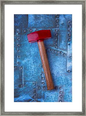 Red Hammer Framed Print by Garry Gay