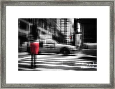 RED Framed Print by Hannes Cmarits