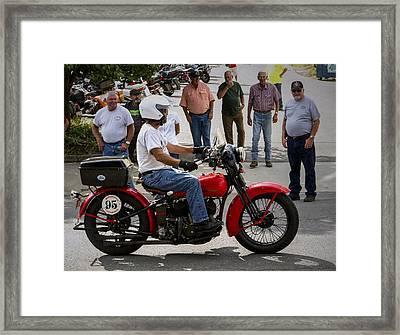 Red Harley 95 Framed Print