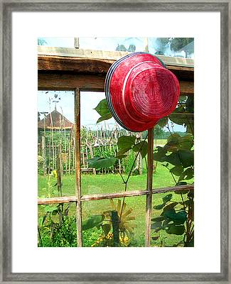 Red Hat By Jan Marvin Framed Print