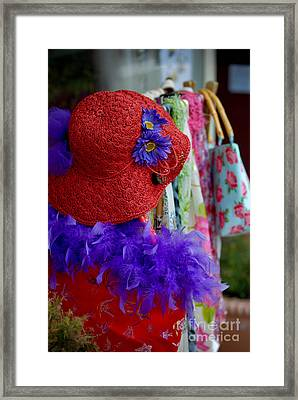 Red Hat Society Framed Print by Amy Cicconi