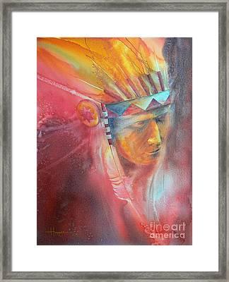 Red Hawk Framed Print by Robert Hooper
