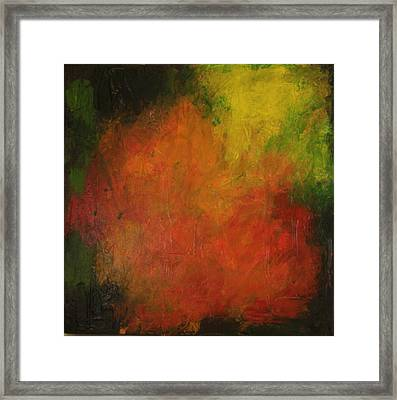 Red Haze Framed Print
