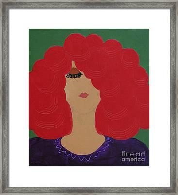 Red Head Framed Print by Anita Lewis