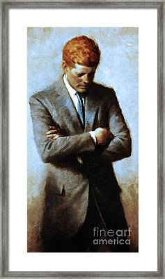 Red Head In The White House - John Fitzgerald Kennedy Jfk 20130610 Long Cut Framed Print